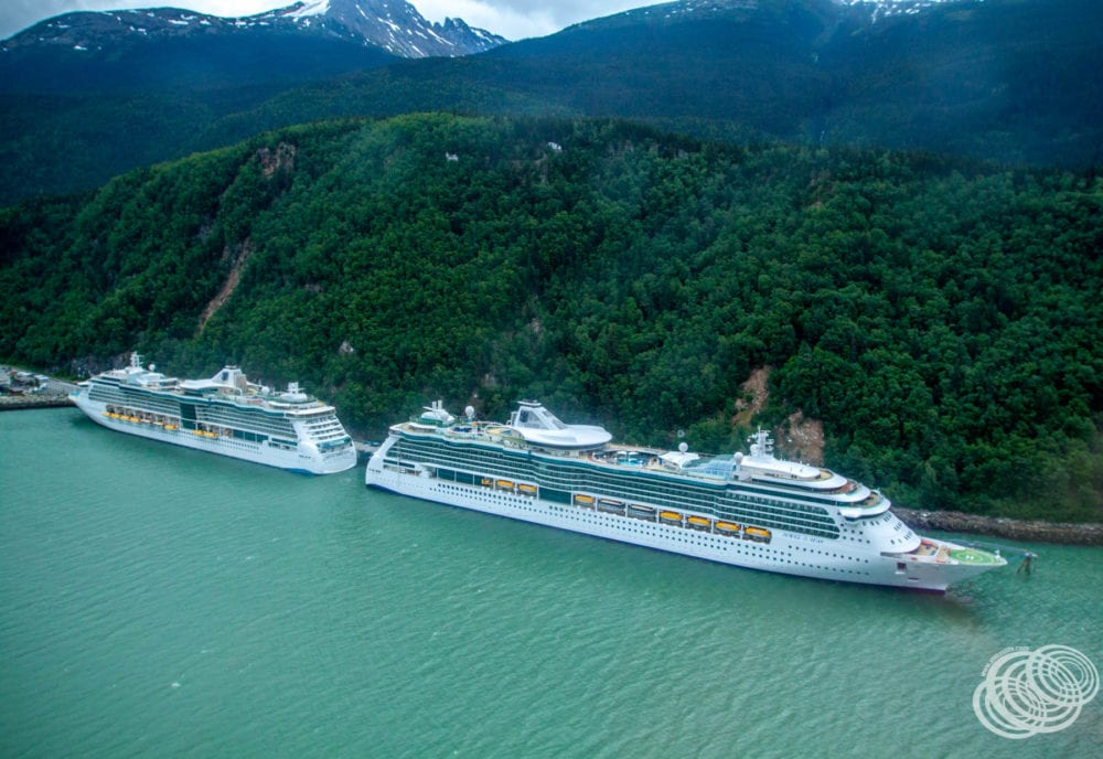 Radiance of the Seas and Jewel of the Seas in Skagway
