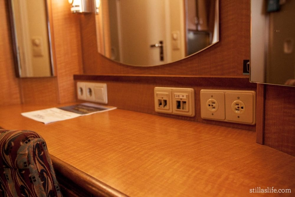 Radiance of the Seas Power Outlets in Spacious Ocean View Stateroom 7500