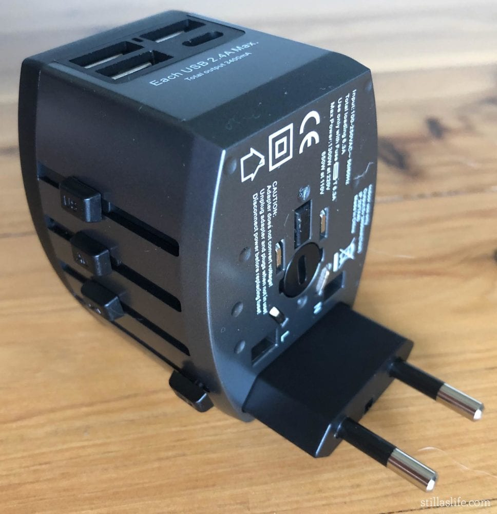 My Travel Multi-Adapter with EU Plug Extended