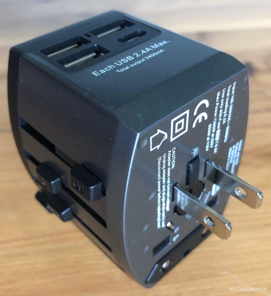 Travel Multi-Adapter with US Plug Extended