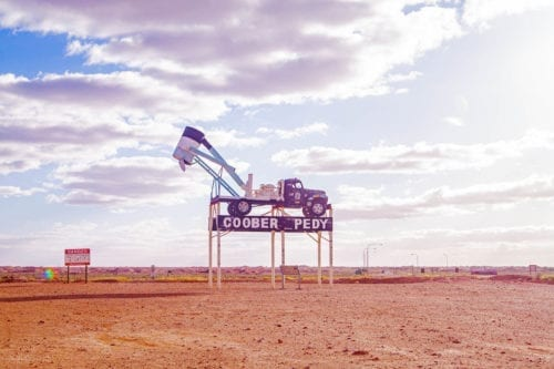 Coober Pedy Blower Truck Sign