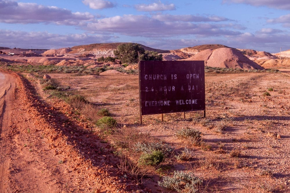 Coober Pedy Church Sign