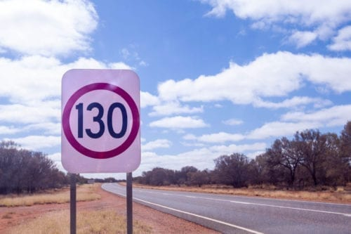130km/h Sign in the Northern Territory