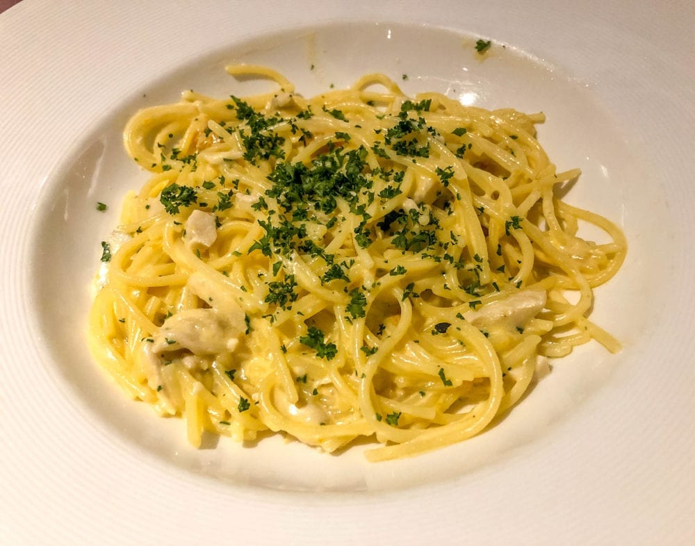 Angelo's Custom Gluten-Free Chicken Spaghetti with White Sauce