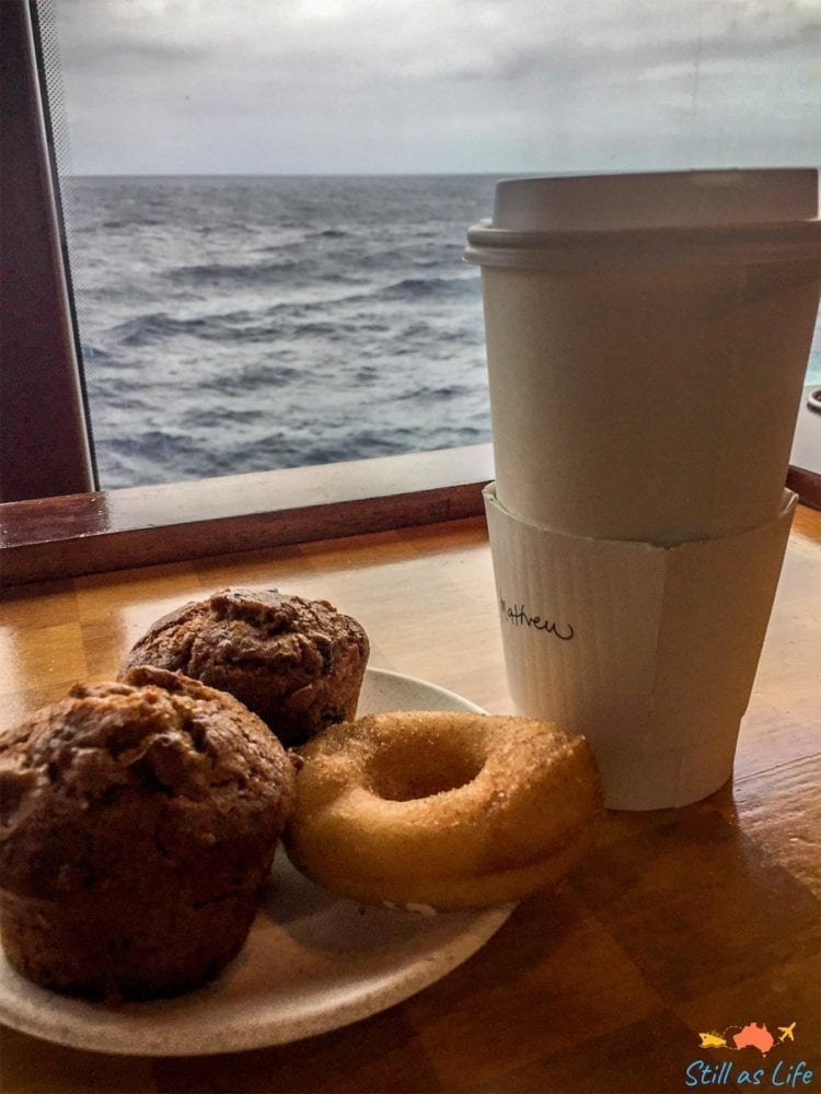 Coffee with a view on Radiance of the Seas