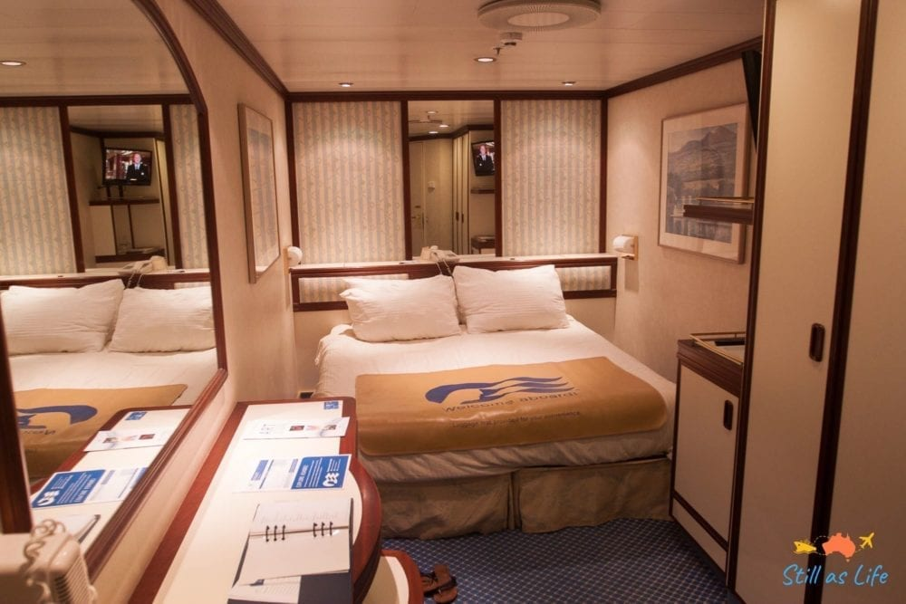 Dawn Princess Interior Stateroom and Bed