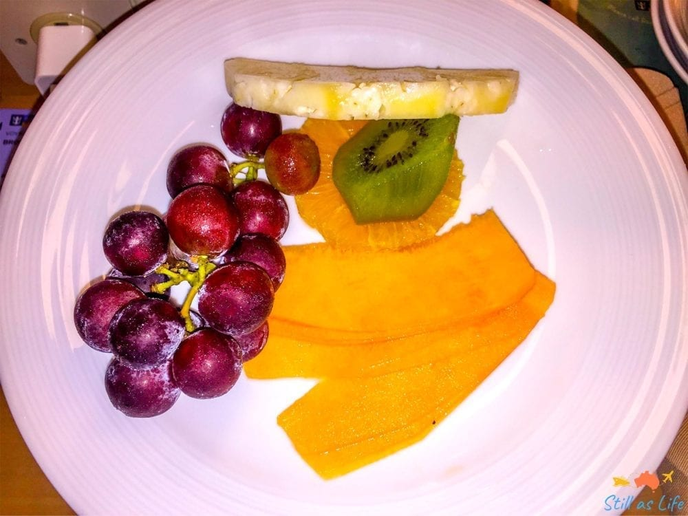 Fruit via room service on Explorer of the Seas