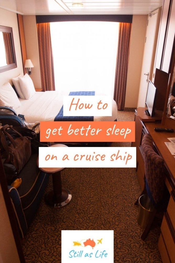 How to get better sleep on a cruise ship Stateroom Pin