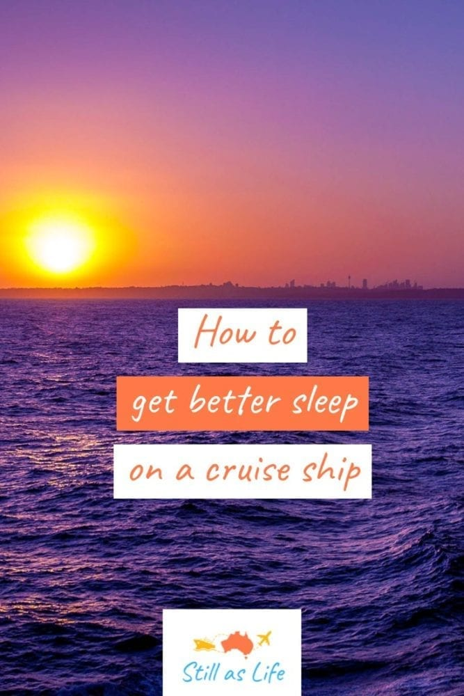 How to get better sleep on a cruise ship Sunset Pin