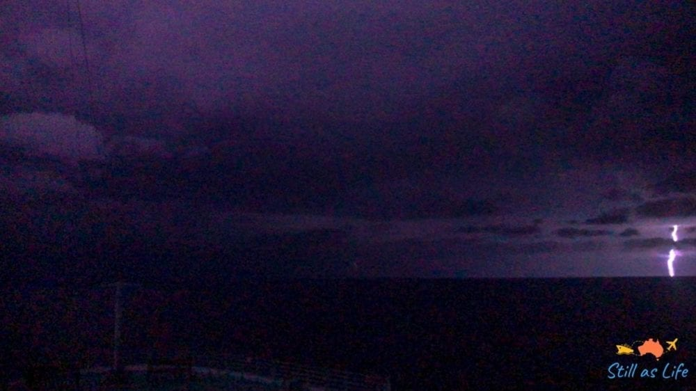 Lightning show on Radiance of the Seas
