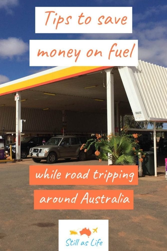 Tips to save money on fuel road tripping Australia - Shell Pin