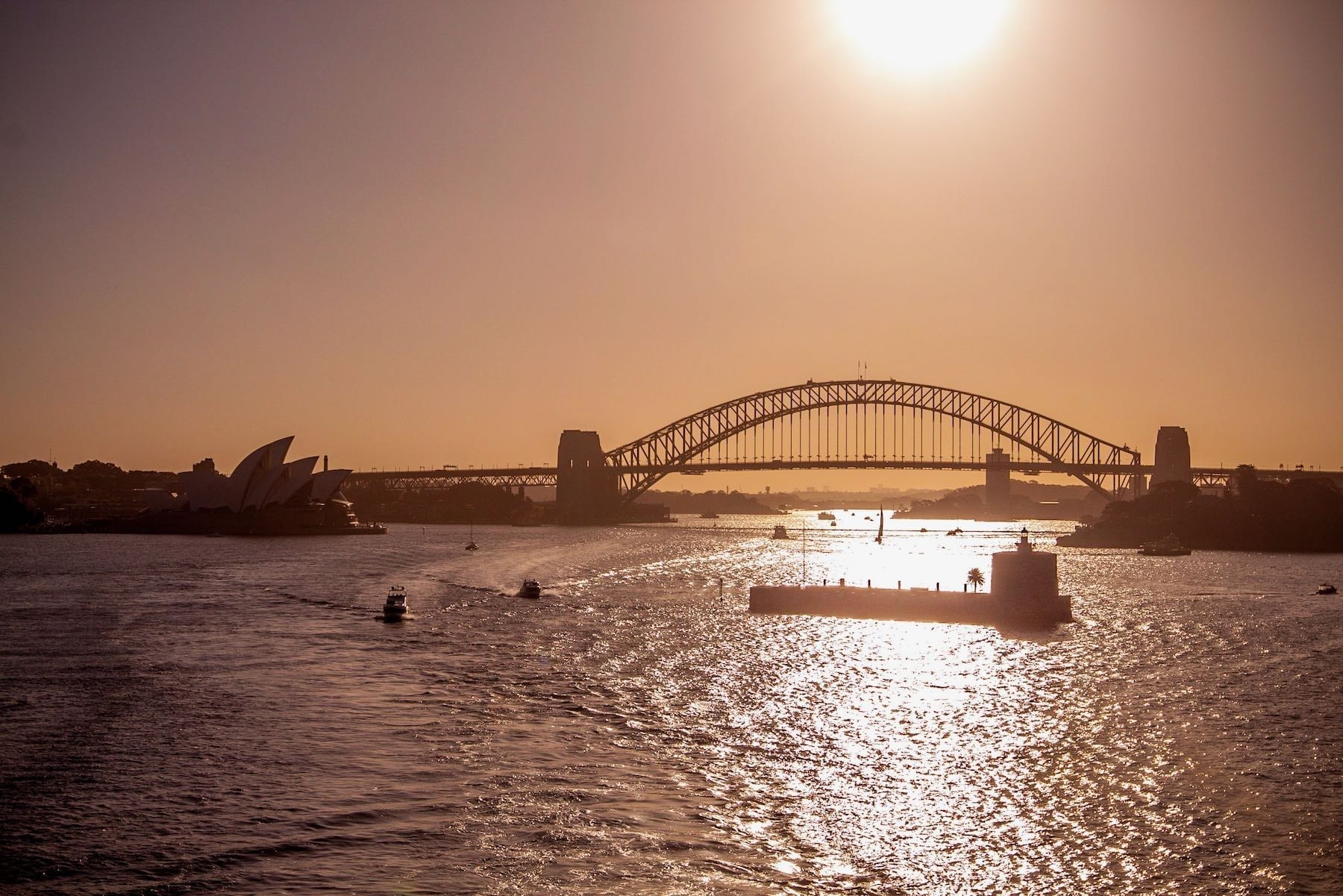 Iconic Sydney Harbour at Sunset