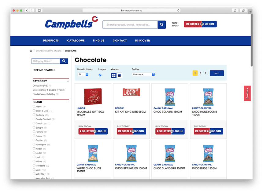 Chocolate at Campbells Cash and Carry