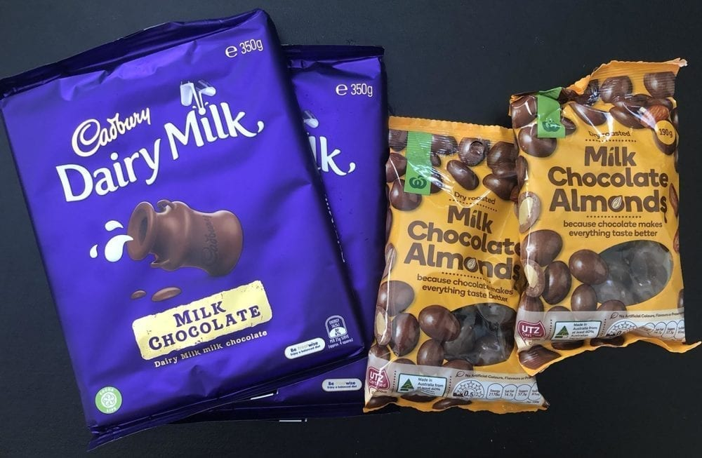 Chocolate from Woolworths