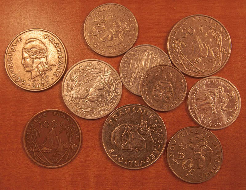 Pacific Franc Coins