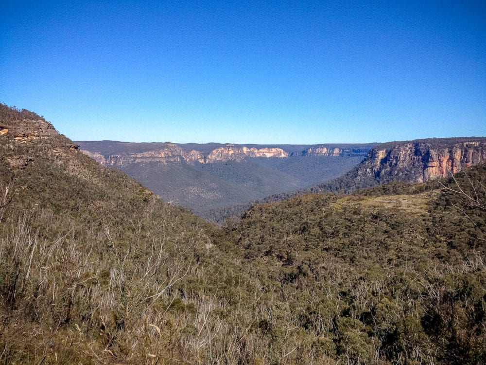 Looking across Grose Valley in the Blue Mountains to Docker Head and Du Faur Head