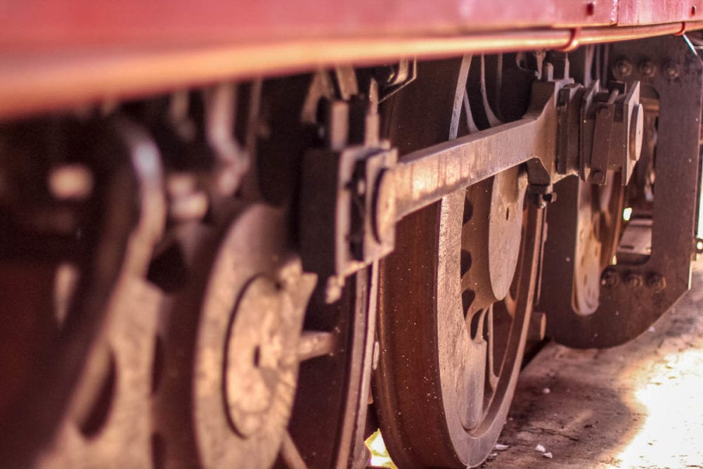Steam Locomotive Wheels at Junee Roundhouse