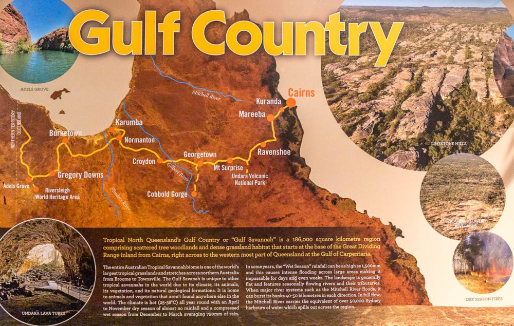 Gulf Country Information Sign