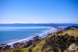 Bay of Plenty from the road to Kohi Point Lookout